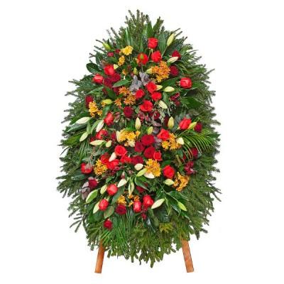 Венок из живых цветов ВЖ-32