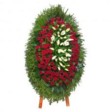 Ритуальный Венок из живых цветов ВЖ-30