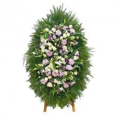 Ритуальный Венок из живых цветов ВЖ-71