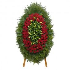Ритуальный Венок из живых цветов ВЖ-27