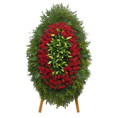 Венок из живых цветов ВЖ-27