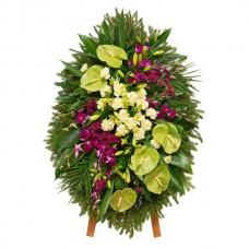 Венок из живых цветов ВЖ-96