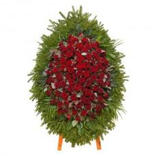 Ритуальный венок из живых цветов ВЖ-100