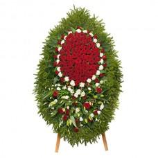 Ритуальный Венок из живых цветов ВЖ-35