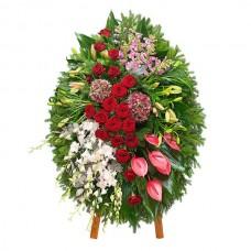 Ритуальный Венок из живых цветов  ВЖ-07