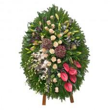 Ритуальный венок из живых цветов ВЖ-99