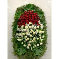 Венок из живых цветов ВЖ-87