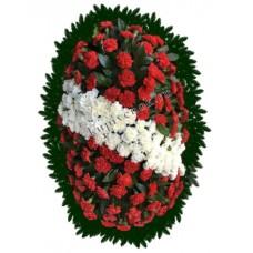 Венок из живых цветов ВЖ-88