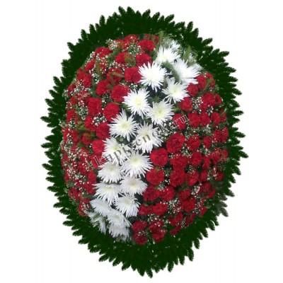 Венок из живых цветов ВЖ-89