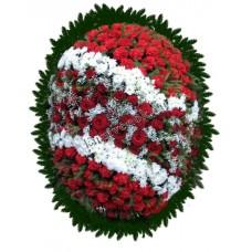 Венок из живых цветов ВЖ-90