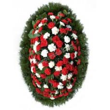 Венок из живых цветов ВЖ-91