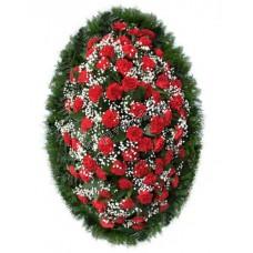 Венок из живых цветов ВЖ-92
