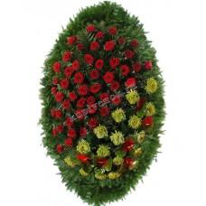 Венок из живых цветов ВЖ-95