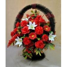 Корзина  элитная из искусственных цветов КЭИ-39