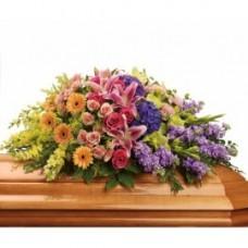Кремационная композиция из живых цветов КР-012