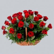 Корзина из живых цветов КЖ-10