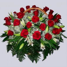 Корзина из живых цветов КЖ-12