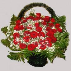 Корзина из живых цветов КЖ-13
