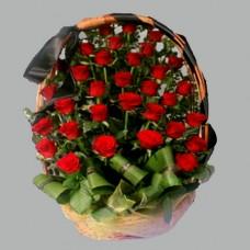 Корзина из живых цветов КЖ-14