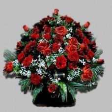 Корзина из живых цветов КЖ-15