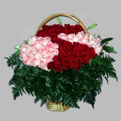 Корзина из живых цветов КЖ-19