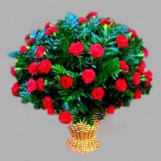 Корзина из живых цветов КЖ-24