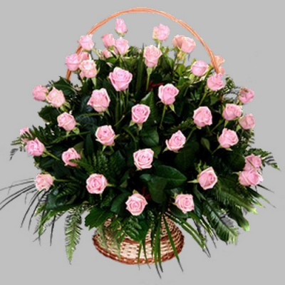 Корзина из живых цветов КЖ-25