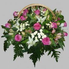 Корзина из живых цветов КЖ-30