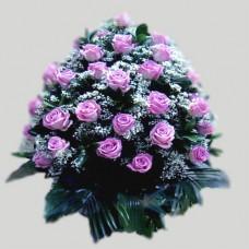 Корзина из живых цветов КЖ-31