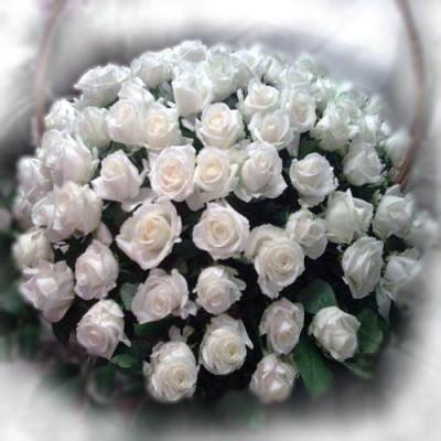 Корзина из живых цветов КЖ-35
