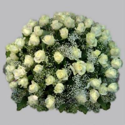 Корзина из живых цветов КЖ-37