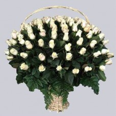 Корзина из живых цветов КЖ-38