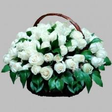 Корзина из живых цветов КЖ-39