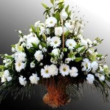 Корзина из живых цветов КЖ-45