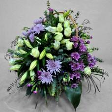 Корзина из живых цветов КЖ-49