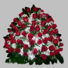 Корзина из живых цветов КЖ-05