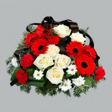 Корзина из живых цветов КЖ-51