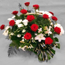 Корзина из живых цветов КЖ-53