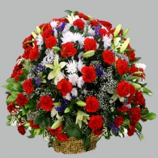Корзина из живых цветов КЖ-54