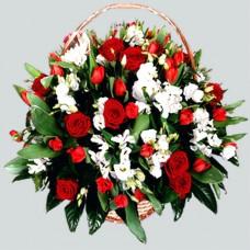 Корзина из живых цветов КЖ-55