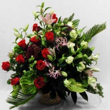 Корзина из живых цветов КЖ-58