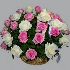 Корзина из живых цветов КЖ-60