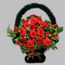 Корзина  элитная из искусственных цветов КЭИ-10