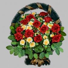 Корзина  элитная из искусственных цветов КЭИ-11