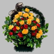 Корзина элитная из искусственных цветов КЭИ-12