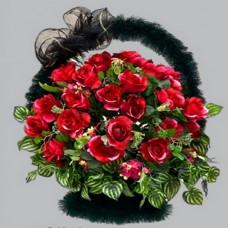 Корзина элитная из искусственных цветов КЭ-13
