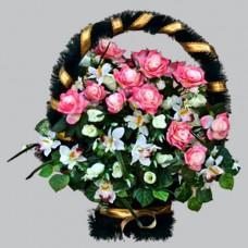 Корзина элитная из искусственных цветов КЭИ-14