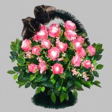 Корзина  элитная из искусственных цветов КЭИ-15
