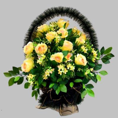 Корзина элитная из искусственных цветов КЭИ-16