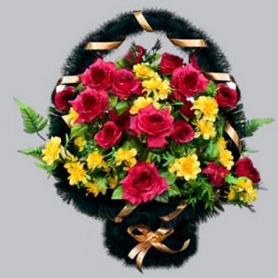 Корзина из искусственных цветов заказная КЗ01
